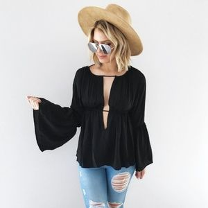 A Perfect Night Blouse:Black